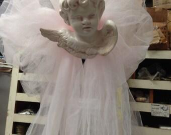 Large Cherub Angel drapery hanging kit