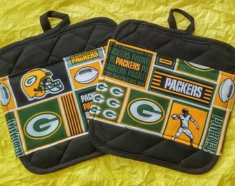Green Bay Packers Kitchen Pot Holders - Hot Pads
