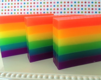 Rainbow Soap - Glycerin Soap - Soap for Kids - Rainbow Gift - Handmade Soap - Gift Soap - Pride Month - Pride Gift - Rainbow Party Favor