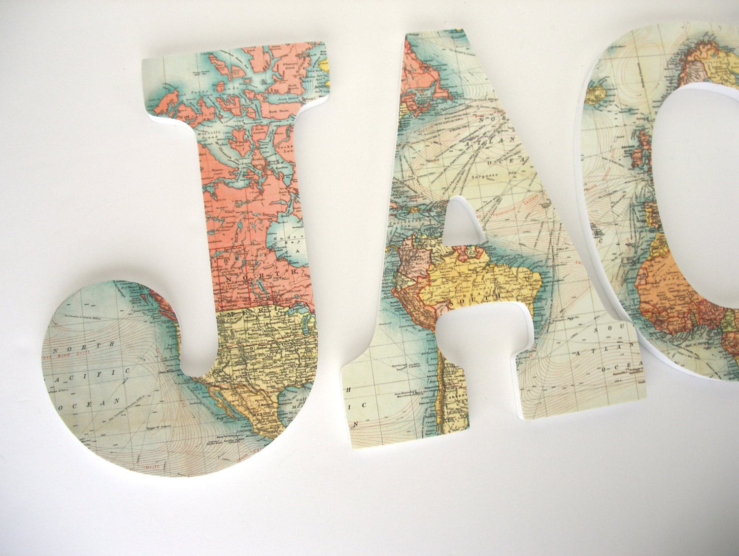 World map wood letters for travel nursery wooden name dcor zoom gumiabroncs Image collections