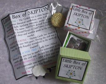 The Little Box of Skipton - Yorkshire Souvenir, Gift, Sentimental gift, Handmade