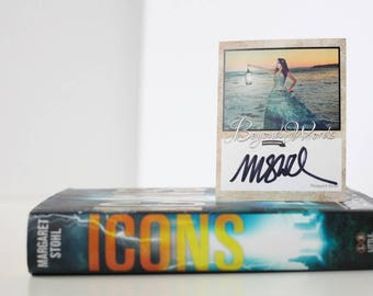 IMPERFECT Signed Margaret Stohl book plate featuring image from the 2016 Beyond Words fantasy author calendar