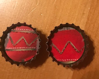 Bottle cap magnets, set of 2