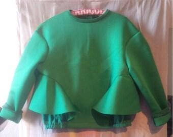 Top long sleeve sweatshirt green YOU