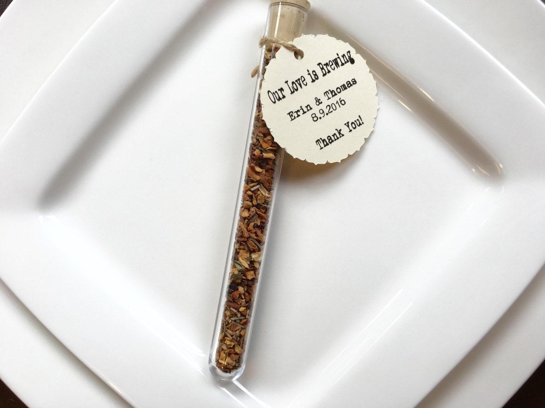 Loose Leaf Tea-Test Tube-Wedding Favor-Bridal Shower-Our Love