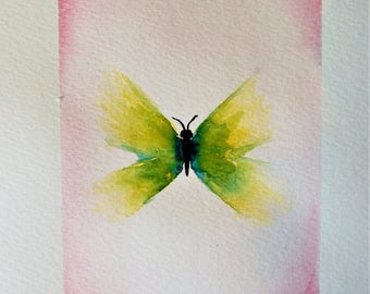 ORIGINAL Watercolour Painting, Butterfly