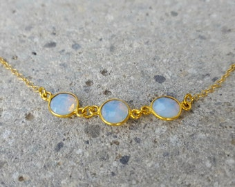 Opalite Gemstone Round Necklace