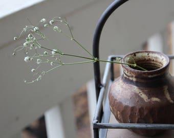 Faceted Brown Vase