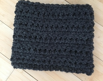 Super Bulky Cowl - warm thick crocheted wool turtleneck