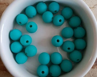 Set of 25 beads 10mm silicone (S24)