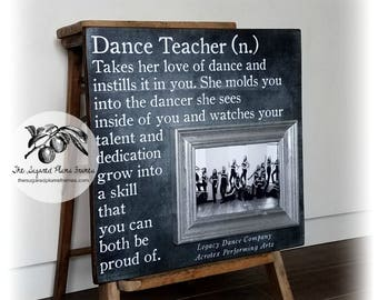 Dance Teacher Gift, Cheer Coach Gift, Dance Team Gift, Coach Gift, Personalized Picture Frame, 16x16 The Sugared Plums Frames