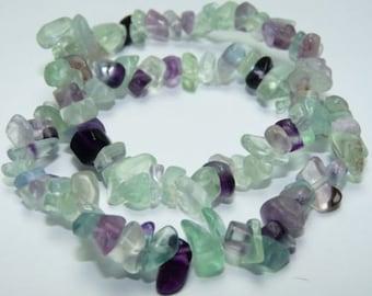 Fluorite Bracelet w/ Reiki/ Rainbow Fluorite Stretch Bracelet