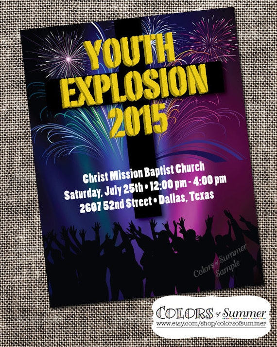 youth group flyers