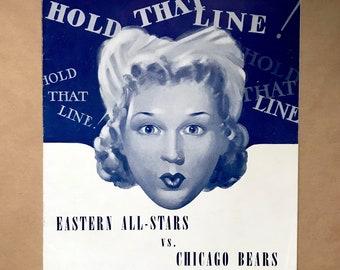 1941 Chicago Bears vs. Eastern All Stars Program - Fenway Park -  Bears Win