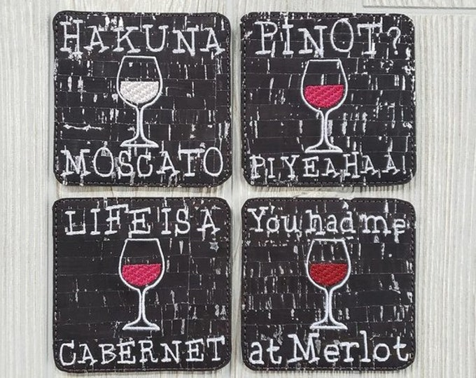 Wine Puns Table Coasters