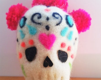 SUGAR SKULLS Needle Felting Kit