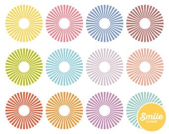 Sunburst Clipart Illustration for Commercial Use | 0373