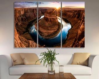 Horseshoe Bend Horseshoe Horseshoe canvas Horseshoe Bend canvas The Grand Canyon Canyon Canyon canvas Mountains Beautiful landscape