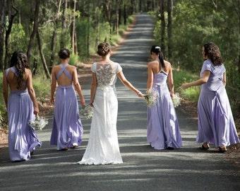 LAVENDER Bridesmaid Dress, Long Short Convertible Dress,  Party Dress, Infinity Wrap Dress, Prom Dress, Evening Dress, Summer Dress