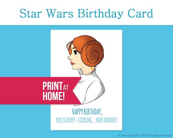 Star wars birthday card princess leia printable card star wars birthday card princess leia printable card happy birthday greeting cards bday cards birthday cards instant download bookmarktalkfo Choice Image