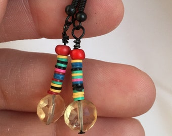 Citrine & African trade beads - proceeds benefit Avela!