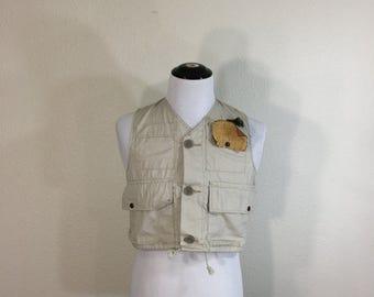 70's vintage duxbak cotton hunting fishing vest size small
