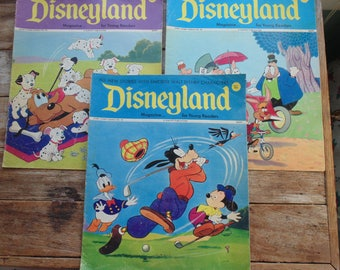Walt Disneys Disneyland Magazine 3 Issues 1970 Young Readers