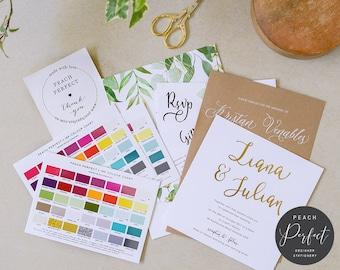 Wedding invitations etsy au wedding invitation sample pack peach perfect australia stopboris Choice Image