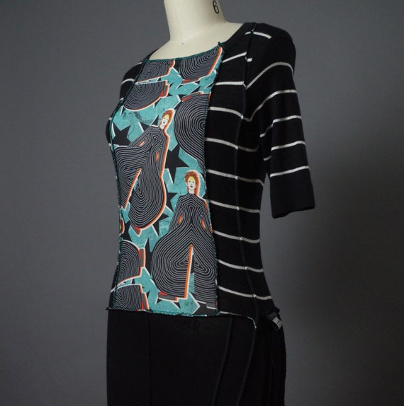 OOAK Spring Tunic  - David Bowie - Up-cycled Clothing - Eco-friendly Clothing - David Bowie Fashion - Tunics