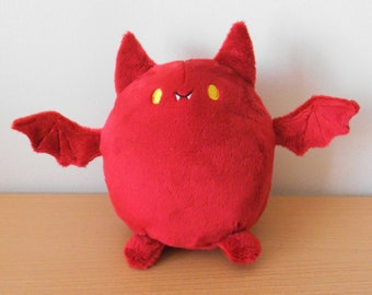 Cute kawaii chubby bat plush toy