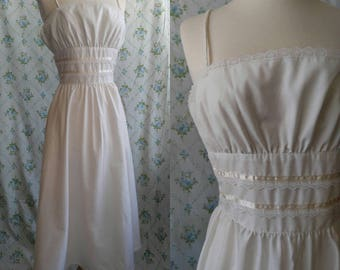 1980s Gunne Sax white sundress Deadstock with tags
