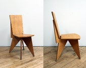 Vintage Plywood Chair -One Off Design, Architectural, Richard Neutra, Flat Pack, Prototype