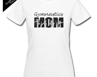 Gymnastics Mom Shirt - Personalize the Colors  - Beautiful Glitter  - Gifts for Mom - Gifts for a Gymnastics Mom