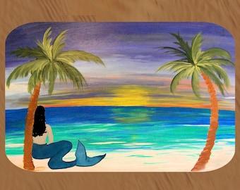 Brunette Mermaid Beach Comfort Foam Floor mat available in 3 sizes
