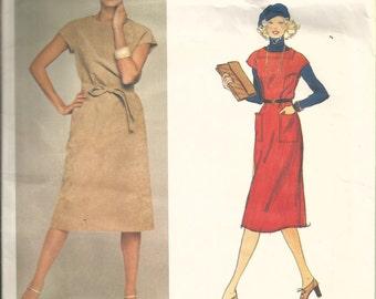 Vogue 1401 Jerry Silverman designer vintage carefully cut to size 8 womans dress