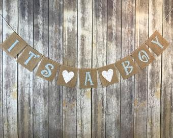 It's A Boy Banner, Baby Shower Boy Banner, Baby Boy Banner, Baby Shower decoration