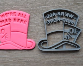 Mad Hatter Cookie Cutter Fondant Cutter