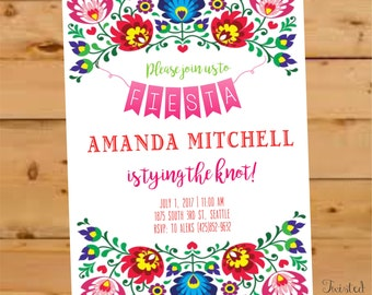 Fiesta Bridal Shower Invitation, Fiesta Bridal Shower Invite, Mexican Bridal Shower, Destination Wedding Bridal Shower, Cactus Bridal Shower
