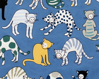 Alexander Henry - Kitty Kat Max - #8481B - Blue