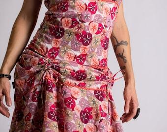 Boho Chic dress//Long dress//summer dress//Flower//Flamenco Dress//alternative clothing//Hispanic//Orange//FRASQUITA PASSIFLORE///MIMISAN