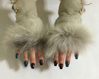 Sheepskin Gloves Fingerless In One Size