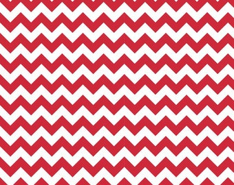FLANNEL Small Red Chevron from Riley Blake, F340-80 Red, Flannel, Choose the Cut!