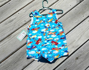 Boys Jon Jons - Airplane - Boys Beach Clothing -  Boys Aviation Outfit - Boys 1st Birthday - Groovy Gurlz