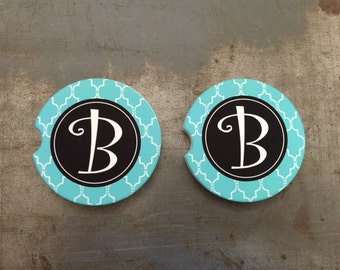 Car Coaster, Set of 2 Custom Car Coaster, Car Accessories for Women, Sandstone Vehicle Coasters Car Cup Holder