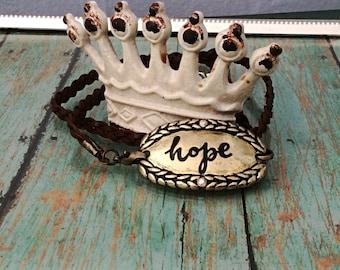 Rustic Wrap-Around Hope Bracelet