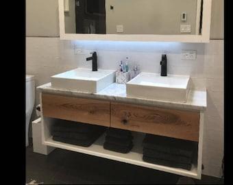 Floating Bathroom Vanity, Modern Bathroom Vanity, Rustic Bathroom Vanity, Bathroom Vanitt