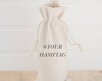 Personalized Wine Bag - Your Hashtag