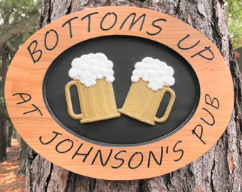 Personalize bar sign/Beer sign/Wine store/Neighborhood bar sign/Pub sign/Man cave sign/Pub bar decor/Family bar sign/Tavern name sign/ Signs