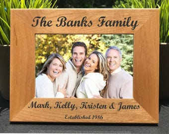 Family Name // Personalized Laser Engraved Photo Frame // Picture Frame // Gift