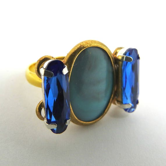 Dark blue ring, a lovely jewelry gift ideas for her.